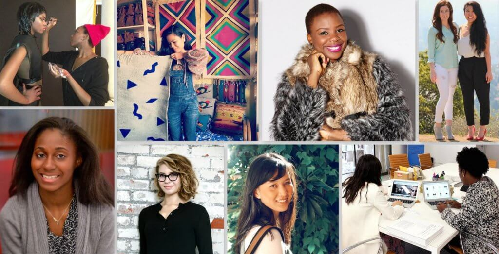 some winners of the #GIRLBOSS Foundation Grant
