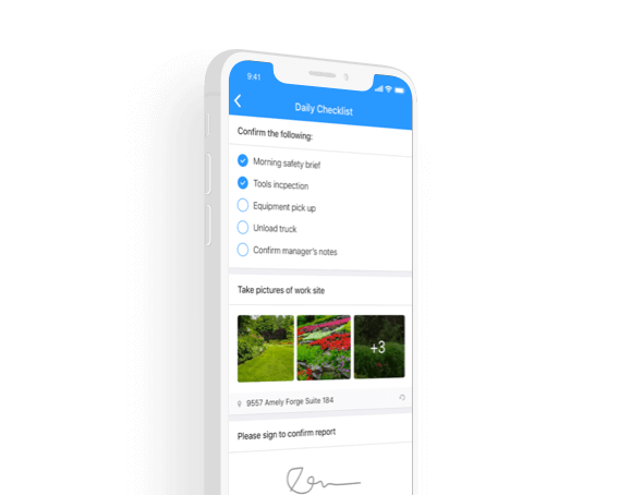 Checklists lawn care app