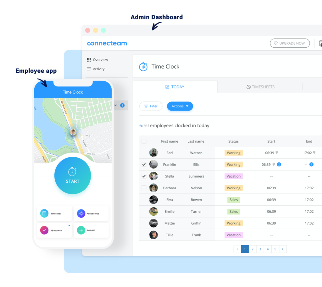 geofence time clock