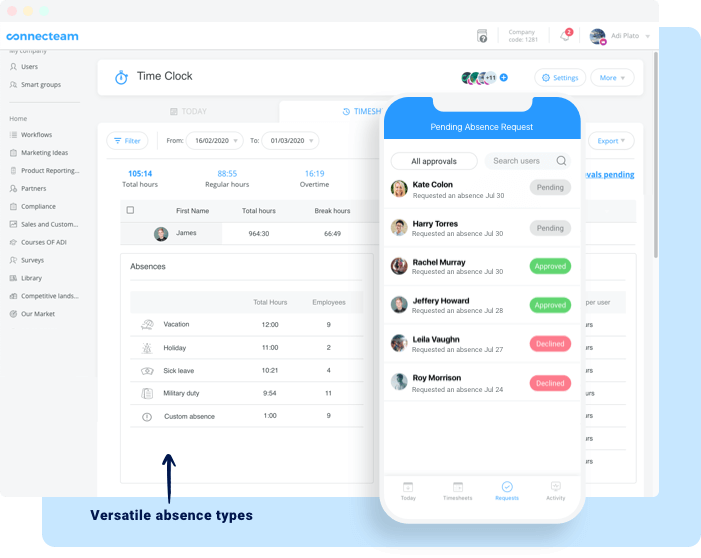 paid time off time tracking app
