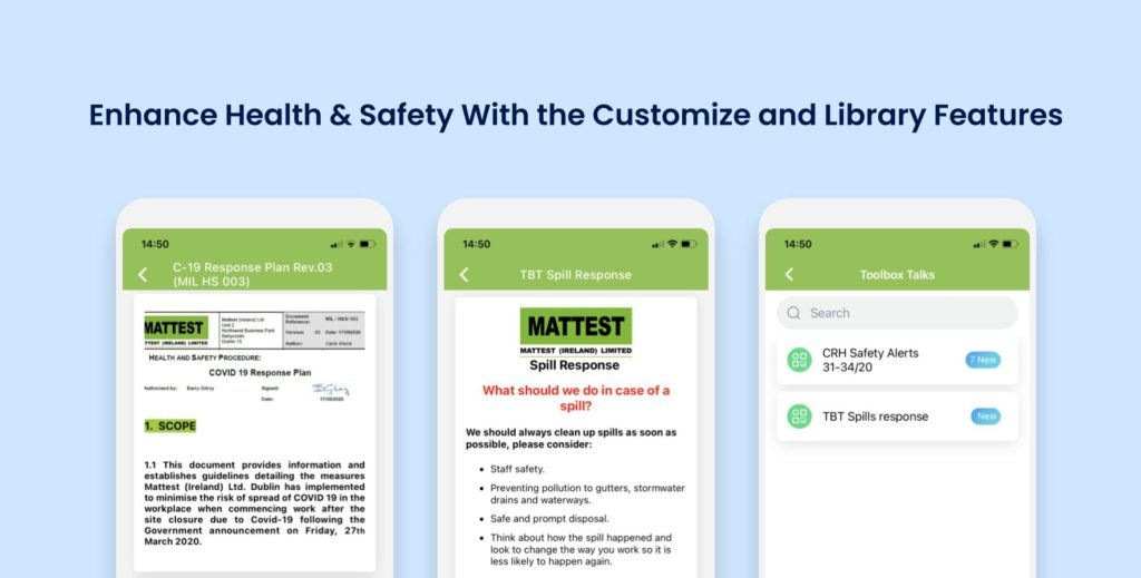 Enhance Health & Safety With the Customize and Library Features - MATTEST CASE STUDY