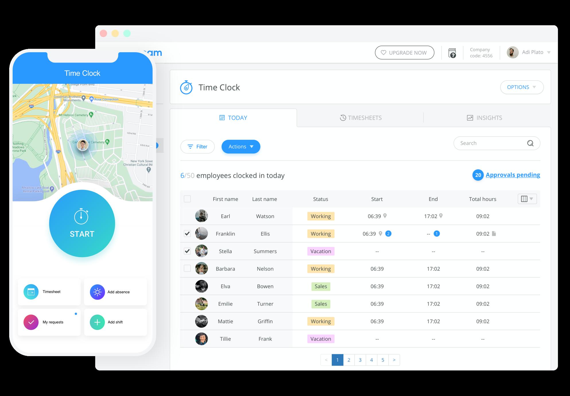 free employee timesheet app