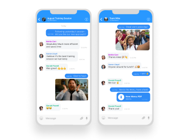 employee engagement app chat