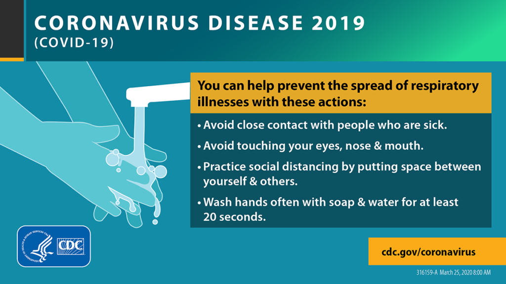 Infographic on how to reduce spread of Covid 19