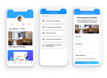 Online forms, reports & checklists app for hospitality business