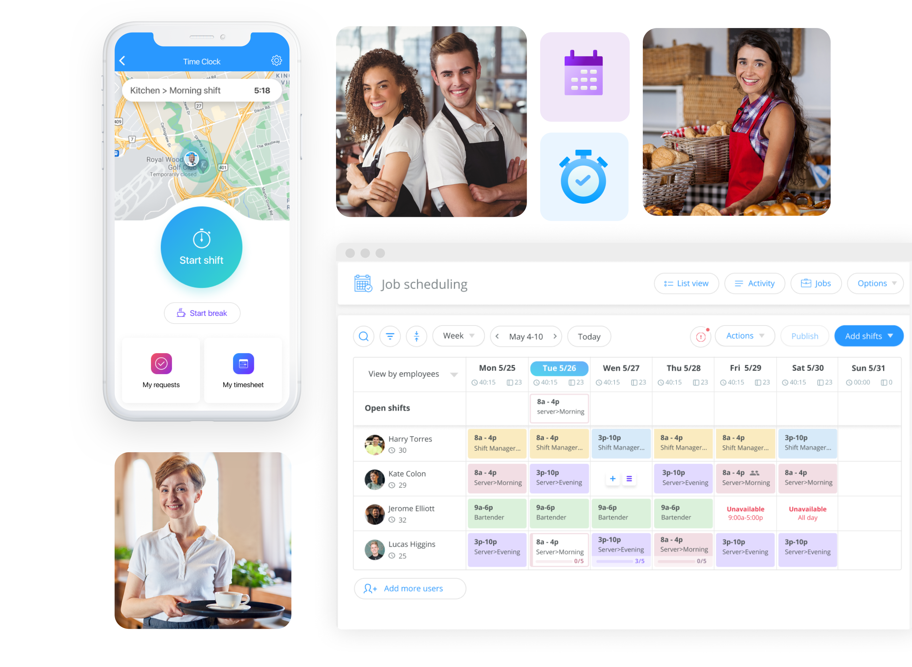 Food and beverage employee management app