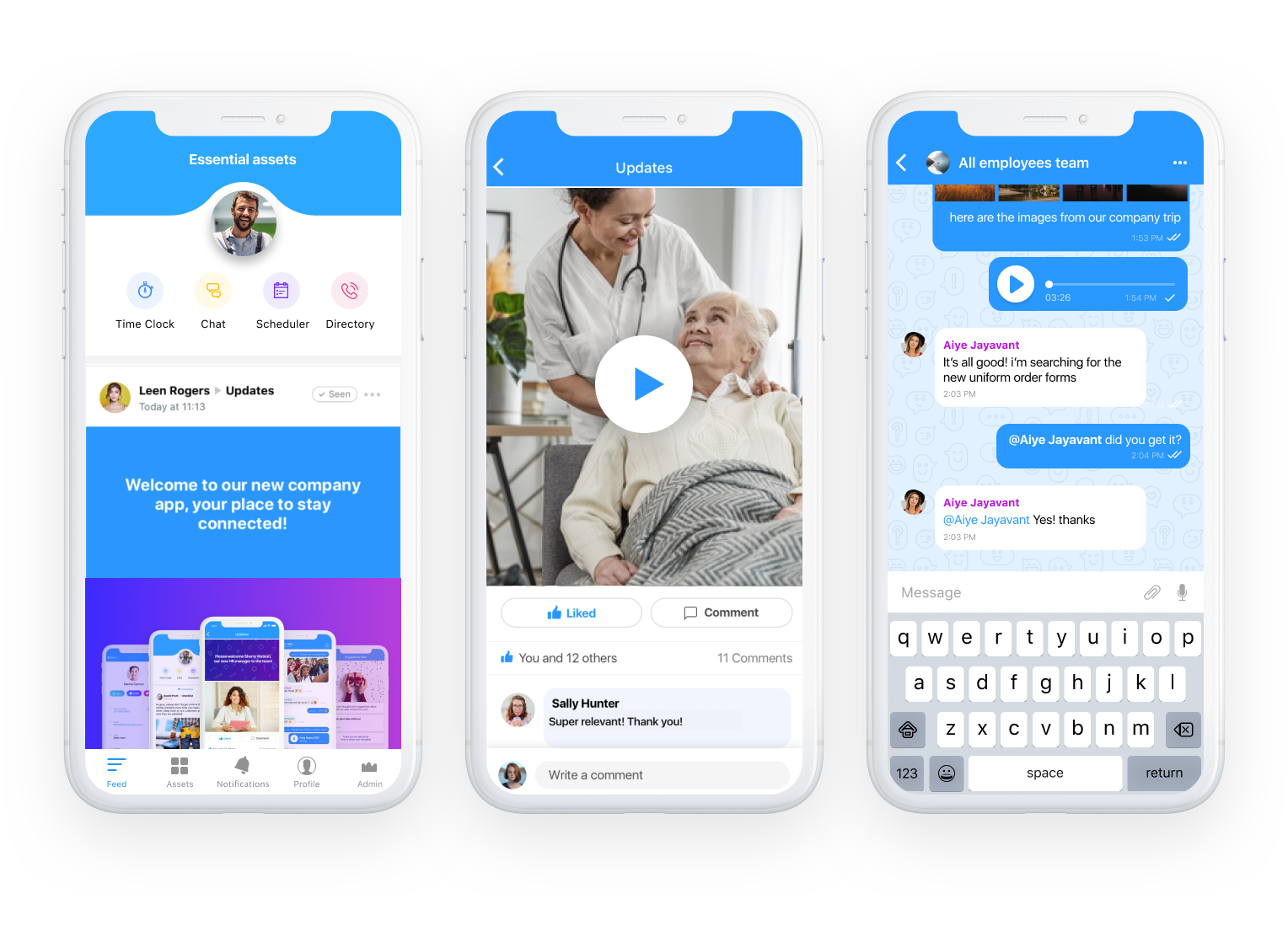 home care employee communication app