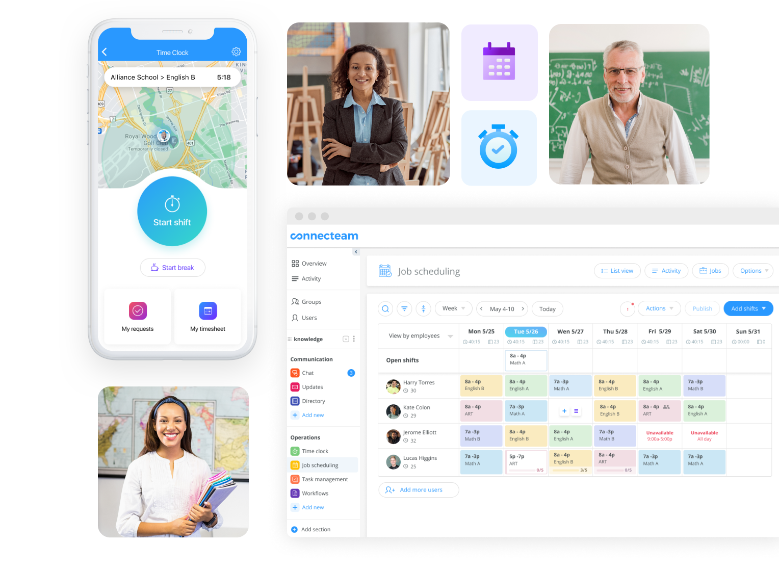 All-in-one education employee management app